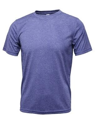 RJX Activ Men's Short Sleeve Core Tee - Heather Purple