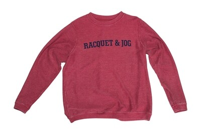 R&J Statement Crimson Pullover Corduroy Crewneck Fleece
