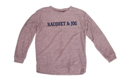 R&J Statement Maroon Pullover Cozy Crewneck Fleece