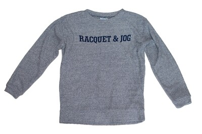 R&J Statement Pullover Cozy Denim Crewneck Fleece