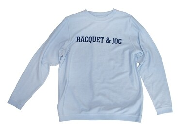 R&J Statement Carolina Blue Pullover Corduroy Crewneck Fleece