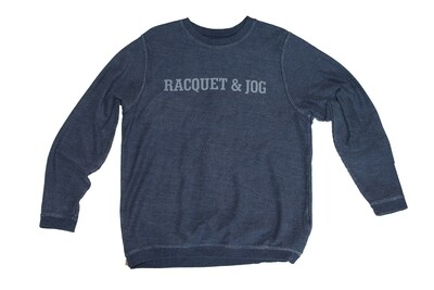 R&J Statement Navy Pullover Corduroy Crewneck Fleece