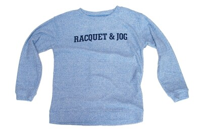 R&J Statement Pullover Cozy Carolina Blue Crewneck Fleece
