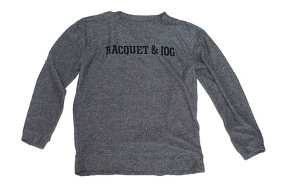 R&J Statement Pullover Cozy Grey Crewneck Fleece