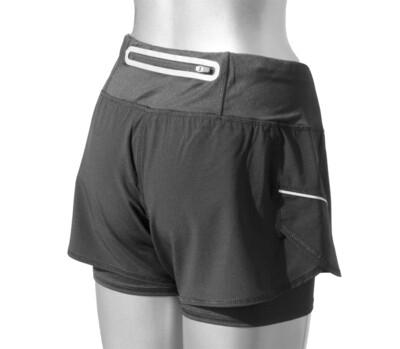 RJX Activ Women's Core 2-in-1 Short - Grey