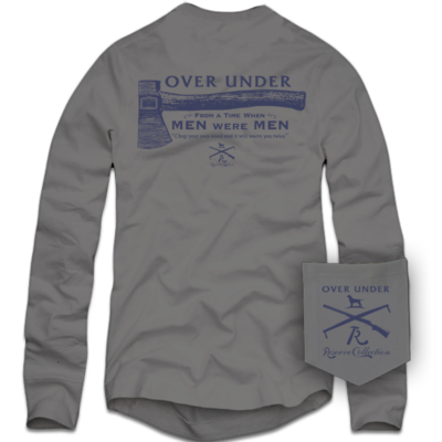 Over Under Men's Long Sleeve Men Were Men Tee