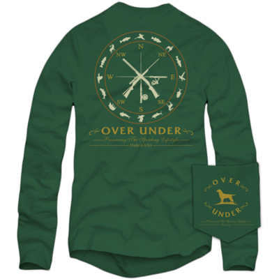Over Under Men's Long Sleeve Sportsman Compass Tee