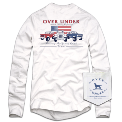 Over Under Men's Long Sleeve Authentic Americana Tee