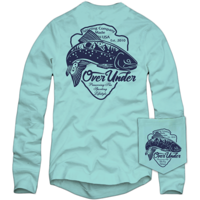 Over Under Men's Long Sleeve Blue Ridge Trout Tee