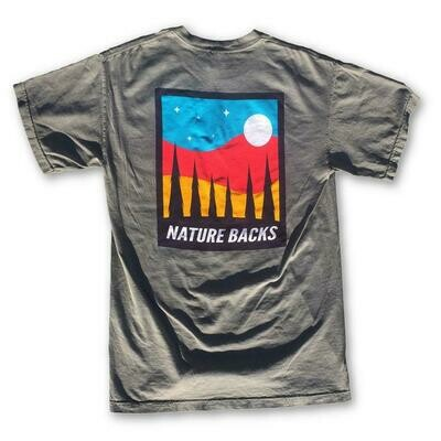 Nature Backs Moon Tee