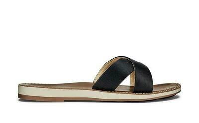 Olukai Women's Ke'a Leather Slide Sandal