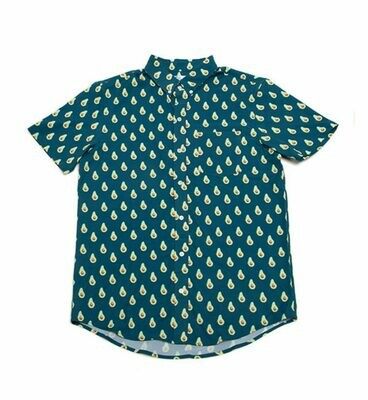 Bermies Men's Avocado Button Down Shirt