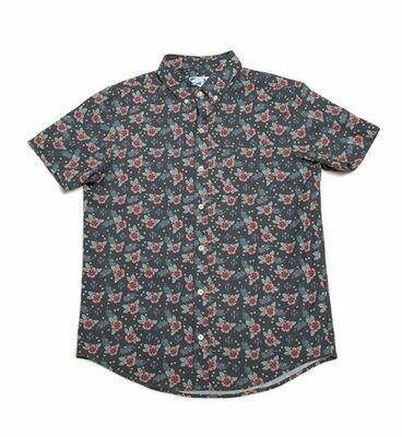 Bermies Men's Vintage Surf Button Down Shirt
