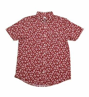 Bermies Men's Aloha Button Down Shirt