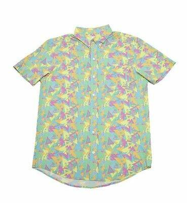Bermies Men's Bermuda Triangle Button Down Shirt