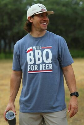 Burlebo Tied To Tex Men's BBQ For Beer Tee