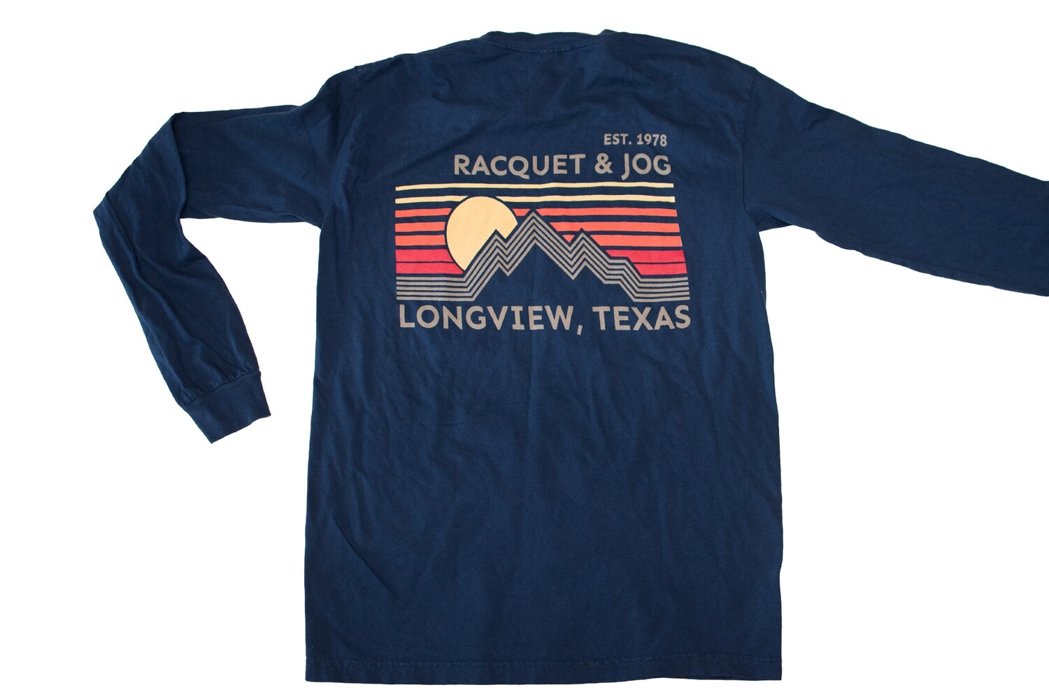 Racquet & Jog Specialty Mountain Lines Long Sleeve Tee