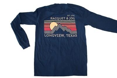 Racquet & Jog Specialty Mountain Lines Long Sleeve Tee
