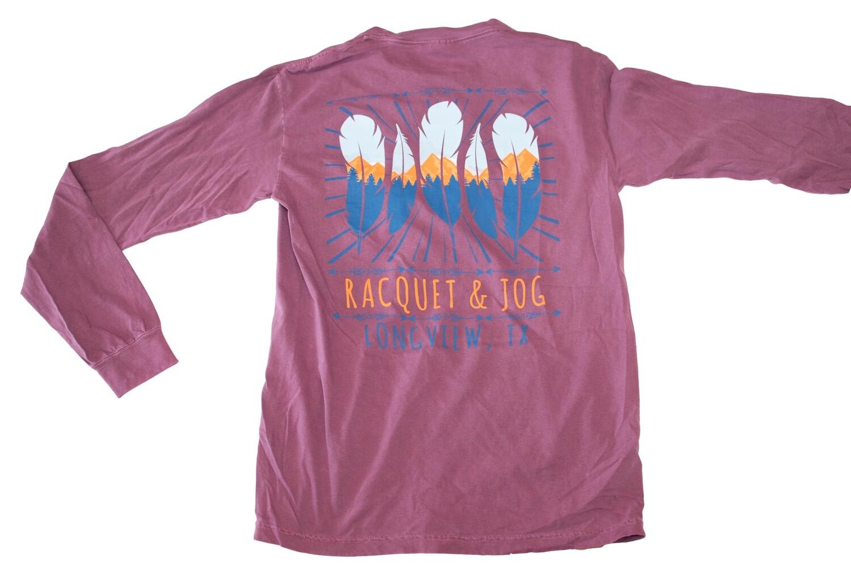 Racquet & Jog Specialty Feather Mountain Long Sleeve Tee
