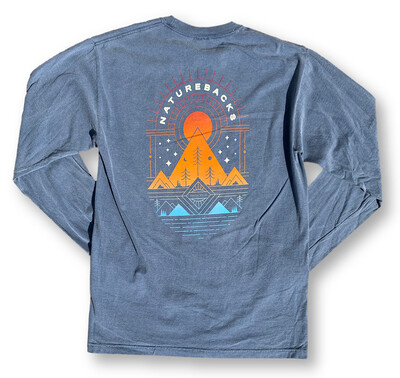 Nature Backs Long Sleeve Prism Tee