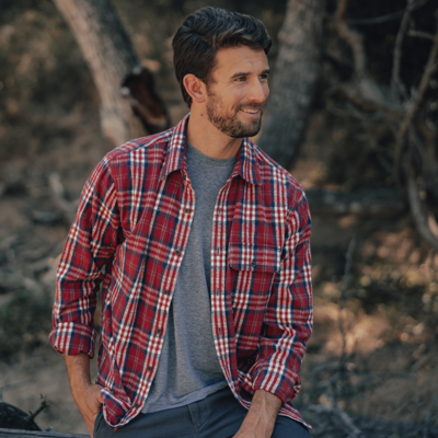 The Normal Brand Men's Long Sleeve Boone Heavy Twill Button Down