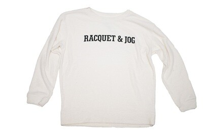 R&J Statement Pullover Cozy White Crewneck Fleece