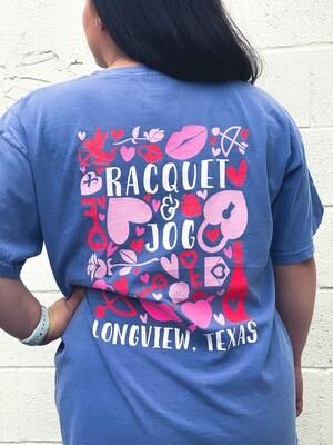 Racquet & Jog Old School Valentine Tee