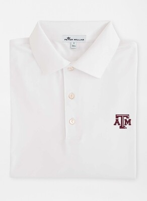 Peter Millar Men's A&M Solid Jersey Polo
