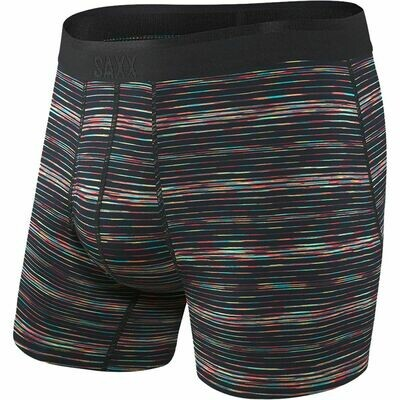 SAXX Men's Platinum Boxer- Black Sunset Space Dye