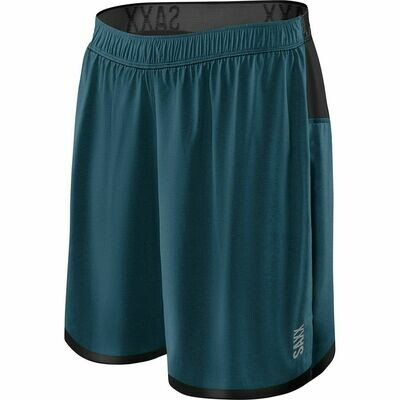 SAXX Men's Kinetic 2N1 Train Short- Velet Blue