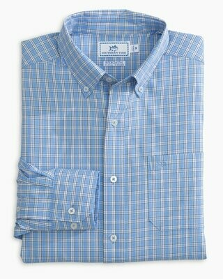 Southern Tide Men's Long Sleeve Yawl Check Brrr Button Down
