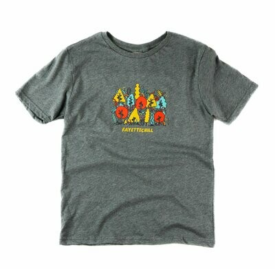 Fayettechill Youth Electric Forest Tee
