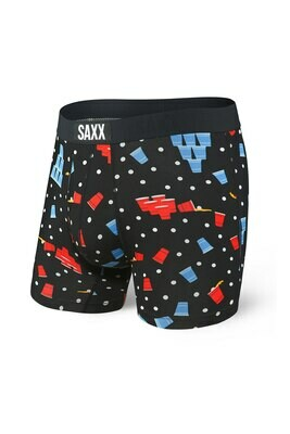 SAXX Vibe Men's Boxer Brief - Black Beer Champs