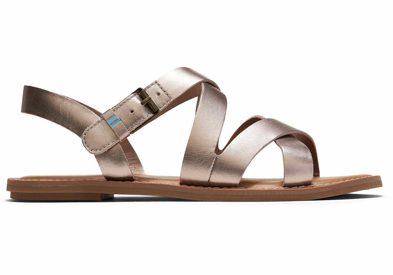 Toms Women's Sicily Sandal- Rose Gold