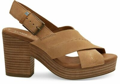 Toms Women's Suede Ibiza Platform-Honey