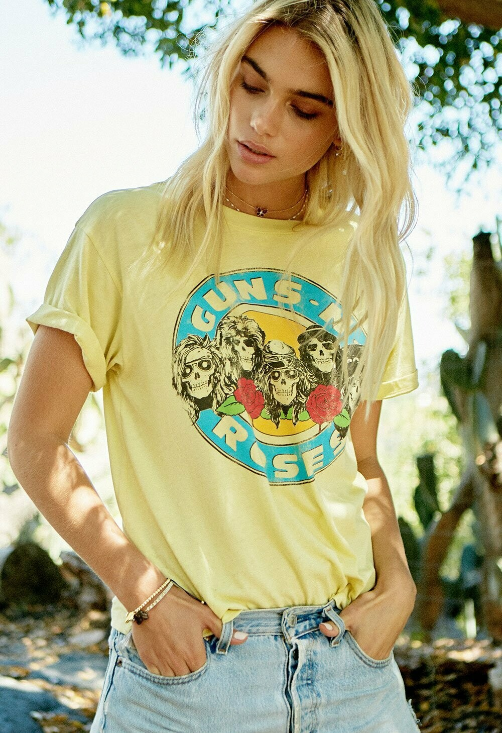Daydreamer Women's Guns N' Roses Welcome to the Jungle Tee