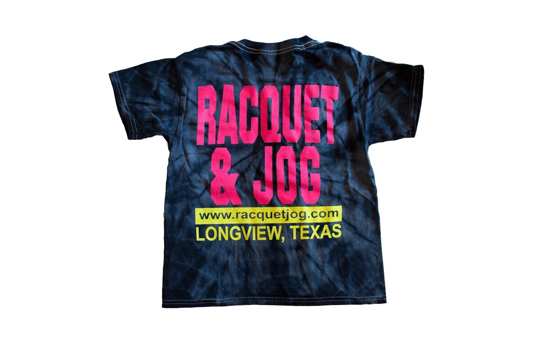 Racquet & Jog Old School Fashion Tie Dye Youth Tee