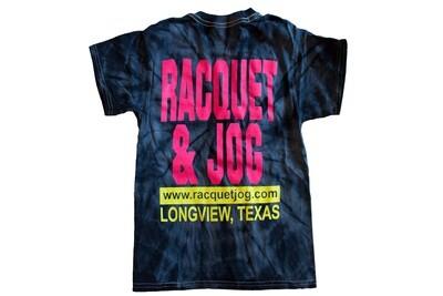 Racquet & Jog Old School Fashion Tye Dye Tee