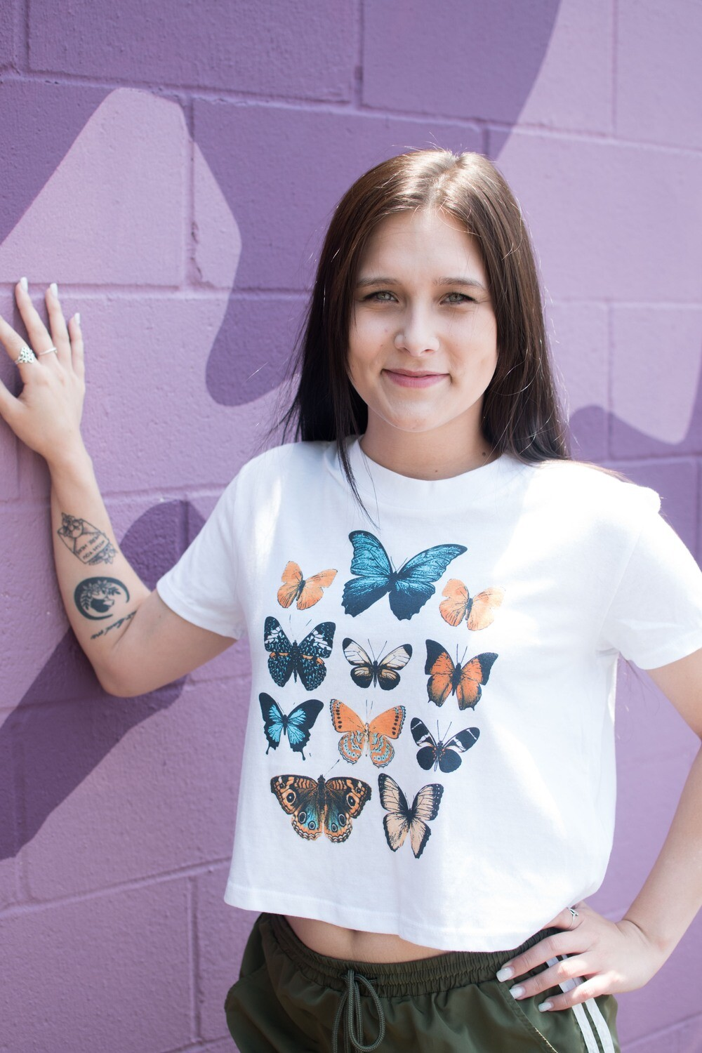 B-Unlimited Butterfly Cropped Tee