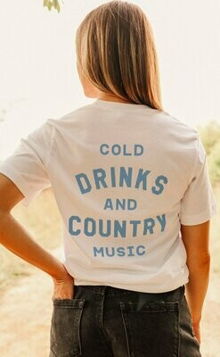 Charlie Southern Cold Drinks and Country Music Tee