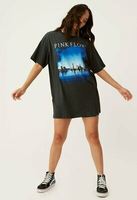 Daydreamer Women's Pink Floyd Wish You Were Here Oversized Tee