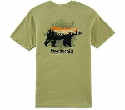 Fayettechill Men's Sunset Bear Tee
