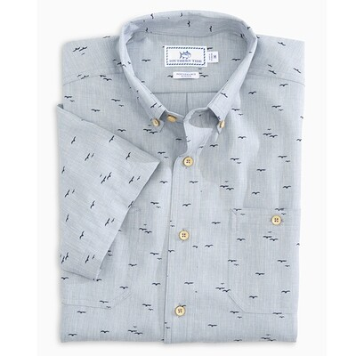 Southern Tide Men's Dock Seagull Button Down