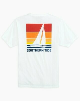 Southern Tide Men's Sailing Sunset Heather Tee