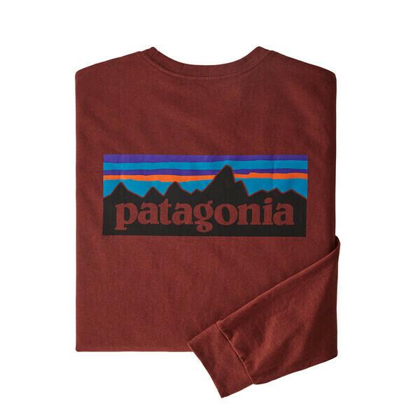 Patagonia Men's Long Sleeve P-6 Logo Responsibili Tee