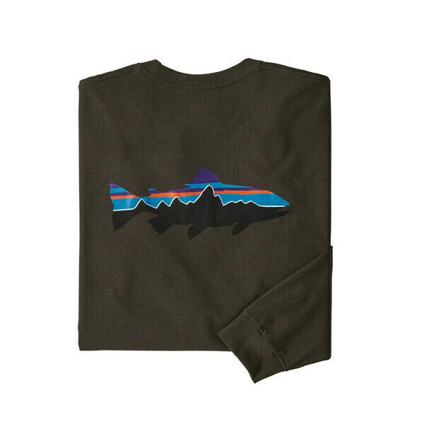 Patagonia Men's Long Sleeve Fitz Roy Trout Responsibili Tee