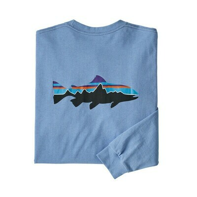 Patagonia Men's Long Sleeve Fitz Roy Trout Responsibili Tee