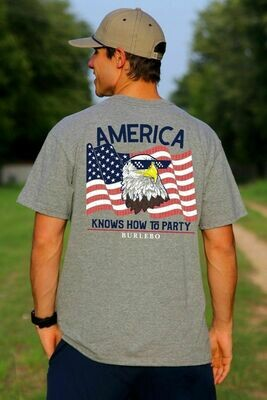 Burlebo Men's America Knows How To Party Tee
