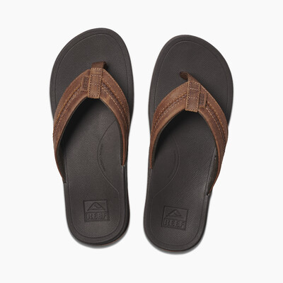 Reef Men's Leather Ortho-Bounce Coast Flip Flop