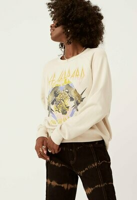 Daydreamer Women's Def Leppard On The Prowl Varsity Crew